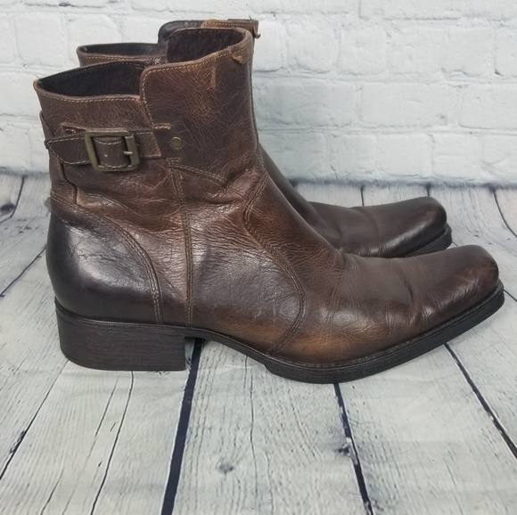 904a7d88ca3 Aldo Mens Brown Leather Distressed Boots
